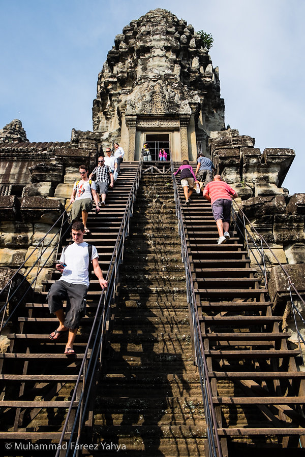 Steps to the top level of Angkor Wat