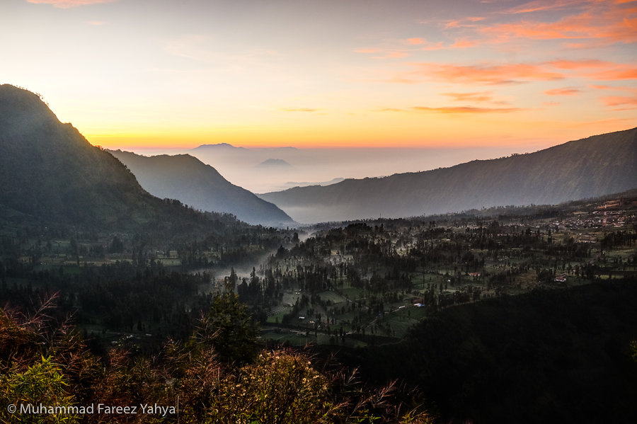 Sunrise over Cemoro Lawang