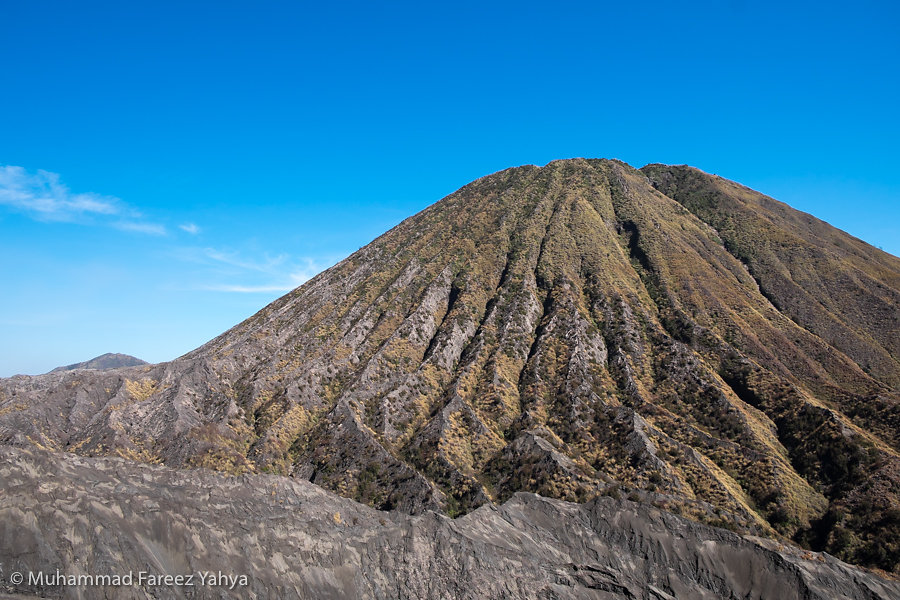 View of Mount Batuk from Mount Bromo